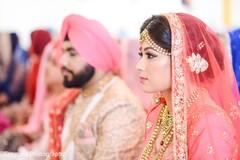 pink dupatta,indian bride fashion,bridal makeup