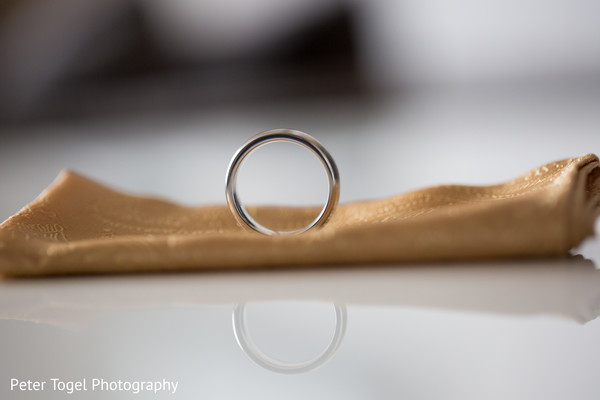 Lovely wedding ring photography.