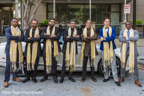 Stylish Indian groom and groomsmen.