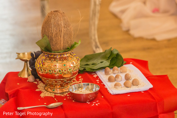 Traditional Hindu marriage items.