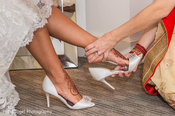 indian bride fashion,indian bride shoes,getting ready