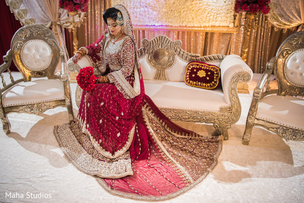 Elegant Pakistani bride photo shoot.