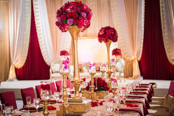 pakistani wedding reception,floral and decor,floral centerpieces