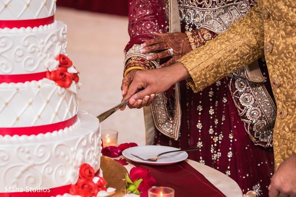 Wedding Cake cutting scene.