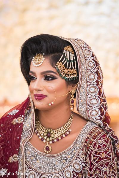 Fine art Pakistani bridal portrait
