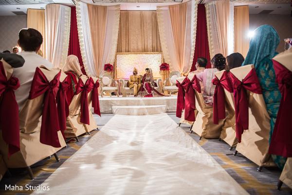 Muslim wedding ceremony venue.