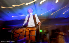 indian wedding reception,live music,dhol player