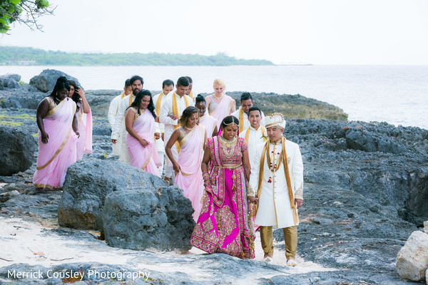 outdoor photography,indian bride and groom,indian bridesmaids and groomsmen