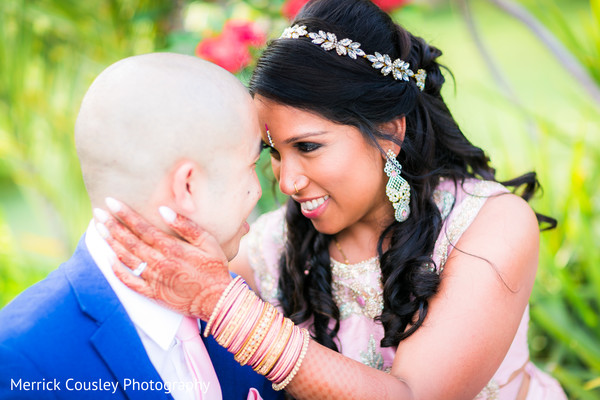 Lovely indian bride and groom's capture in St.Ann, Jamaica Indian Fusion Wedding by Merrick Cousley Photography