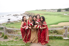 Maharani with her bridesmaids