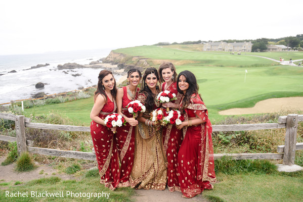 indian bridesmaids,indian bridal party,bridal bouquet