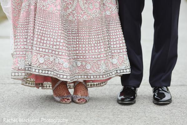 Indian couple wedding shoes