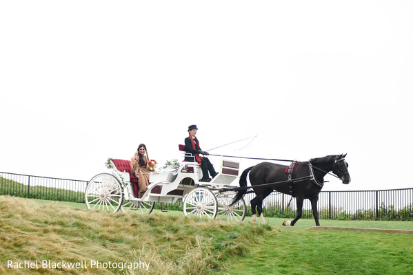 Maharani making her grand entrance in a carriage