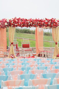 Dreamy indian wedding outdoor stage
