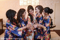 Maharani making a toast with her bridesmaids