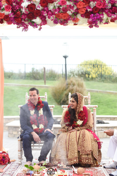 Lovely indian fusion wedding ceremony