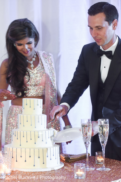 Indian wedding cake cutting ceremony
