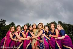blue sari,indian bridesmaids fashion,indian bride fashion