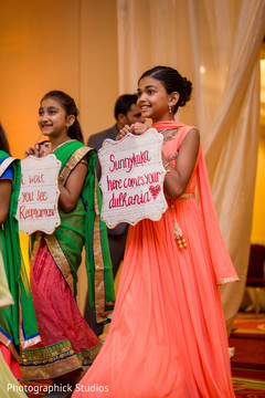 peach sari,indian wedding,flower girl fashion