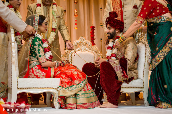 indian bride fashion,red lengha,deep red turban