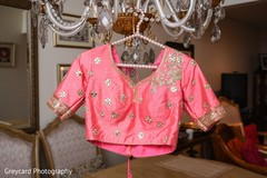 Pink and gold lengha top