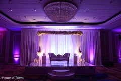 indian wedding reception,floral and decor,planning and design,wedding stage