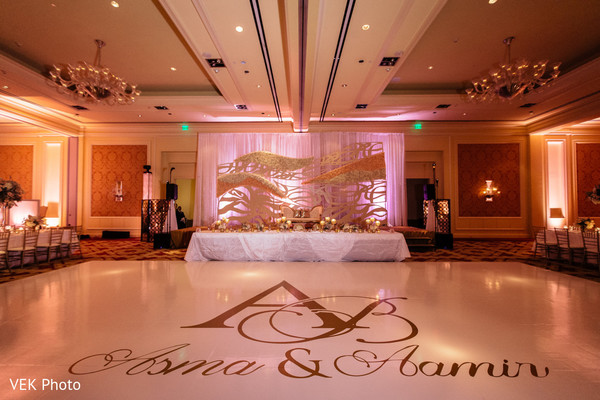 Personalized Indian wedding dance floor. in Dallas, TX South Asian Wedding by VEK Photo