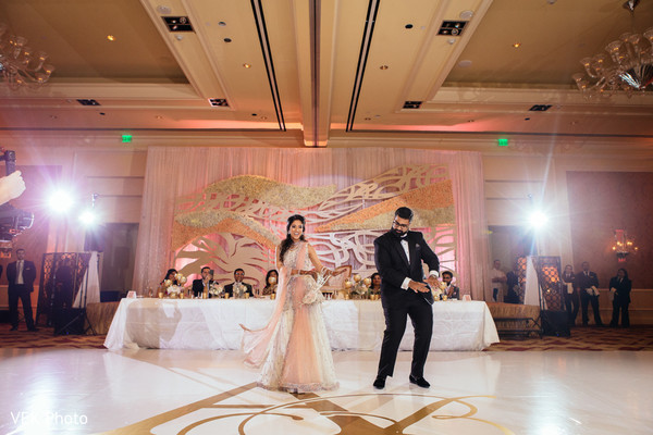 indian wedding reception,choreography,indian bride and groom