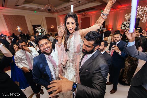 indian wedding reception,dj,indian bride