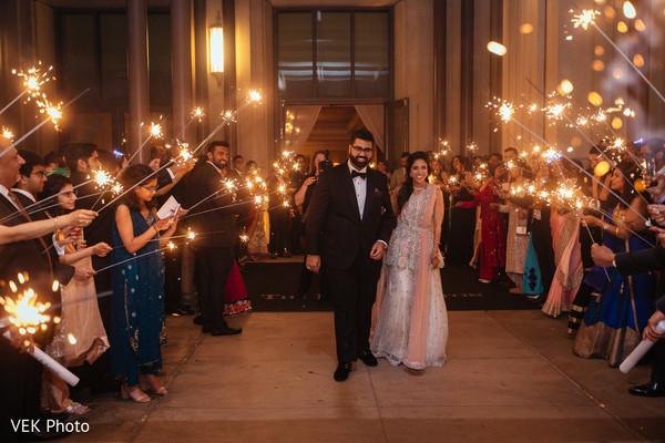 indian wedding reception,indian bride,fireworks