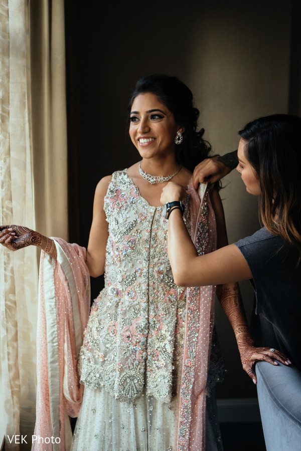 Gorgeous Indian bridal style. in Dallas, TX South Asian Wedding by VEK Photo