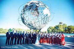 indian bridesmaids fashion,red sari,indian groomsmen