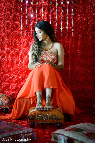 Gorgeous indian bride posing in Glenview, IL Indian Wedding by Aiya Photography