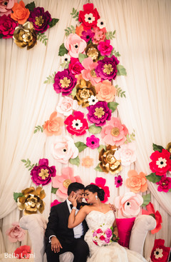 indian bride and groom,indian bridal bouquet,indian wedding decor