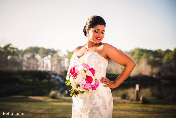 Dazzling indian bride in Texas City, TX South Asian Wedding by Bella Lumi