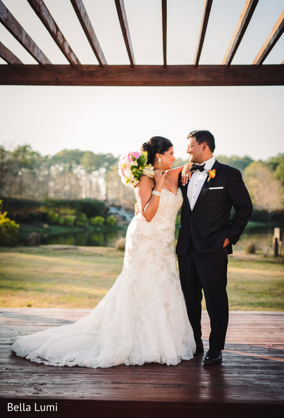 Indian couple looking complete in love in Texas City, TX South Asian Wedding by Bella Lumi