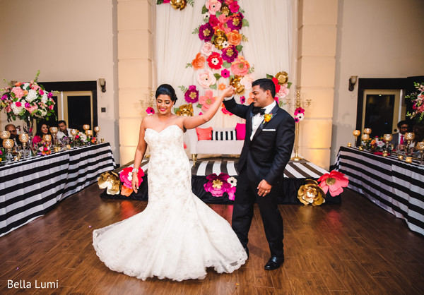 Showstopping Indian bride and groom in Texas City, TX South Asian Wedding by Bella Lumi
