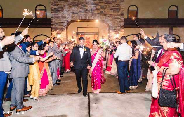 Phenomenal Indian newlyweds farewell in Texas City, TX South Asian Wedding by Bella Lumi