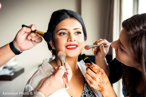 indian bride makeup,getting ready,makeup artist