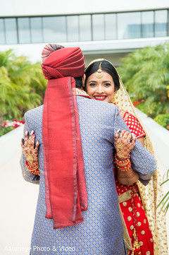 first look,indian couple,indian wedding photography