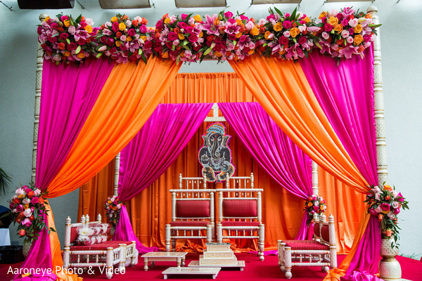 indian wedding stage,indian wedding floral mandap,mandap