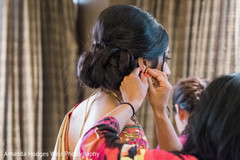indian bride earrings,indian bride fashion,getting ready