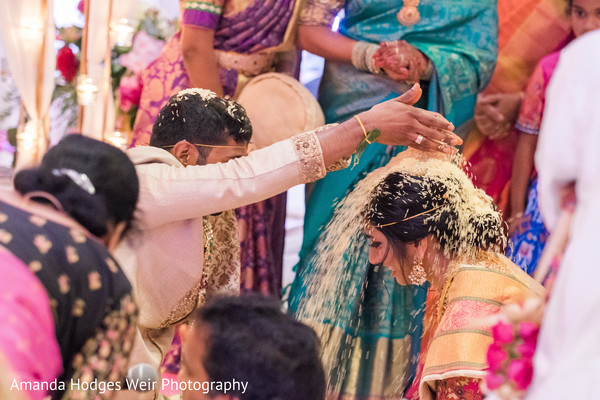 indian wedding,rice ceremony