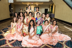indian bridesmaids fashion,sari,baby pink sari