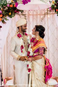 indian couple,indian newlyweds,indian wedding ceremony