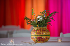 Wedding garba table centerpiece