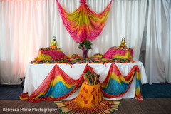 Garba sticks station decor