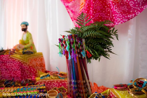 Colorful garba sticks