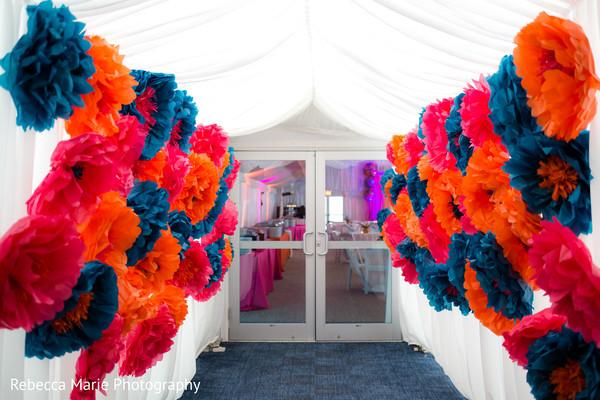 Colorful entrance decor