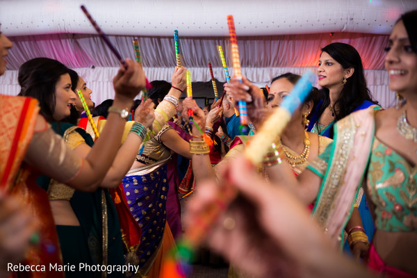 pre- wedding celebrations,indian wedding garba,garba sticks,dandia raas
